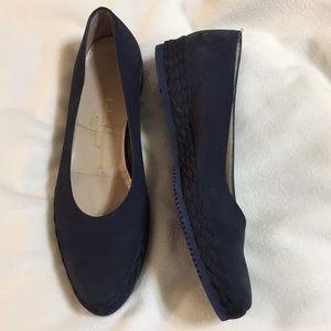 Salvatore Ferragamo Navy Suede Shoes